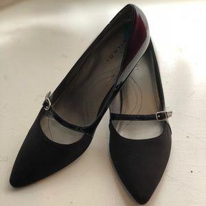 🆕 NWOT Elie Tahari Black Patent Strap Heels